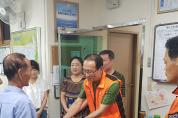 창선119안전센터, 추석맞이 부평시장 상가화재 피해주민에게 성금 전달