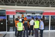 부산강서소방서, 안전 UP, 사고 ZERO 화 도시철도 인명구조훈련