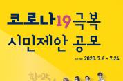 부산시, 「코로나19 극복 시민제안 공모전」 개최